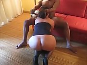 Wifey pleasing her bull in front of husband
