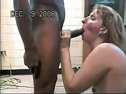 Wife loves sucking hefty hard ons black or white