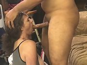 Wife's first time gulping a jaws utter of cum