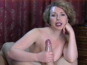 Compile second the best wifey handjob cum in the world 8