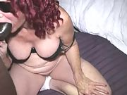 Phat ass grannie takes dick in her anus like a pro